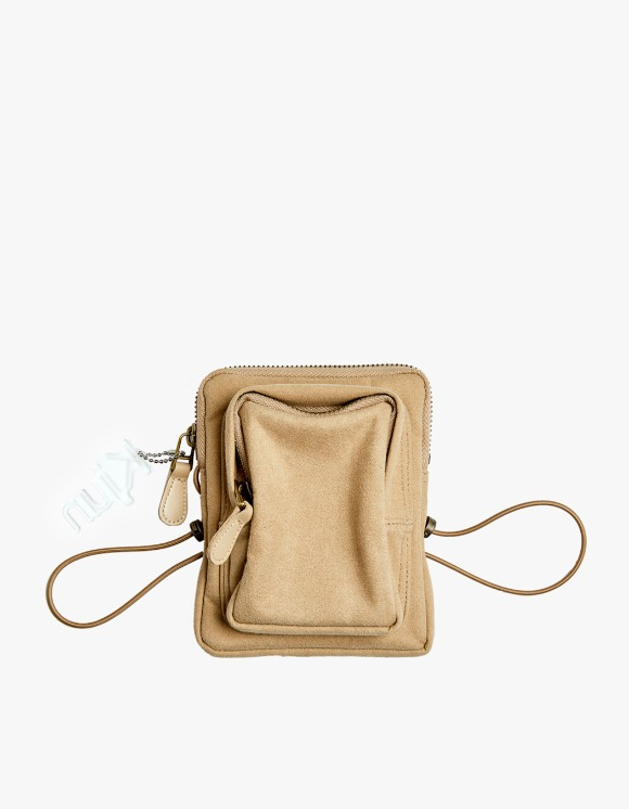 KIJUN Suede Mini Bag - Beige | HEIGHTS. | 하이츠 온라인 스토어