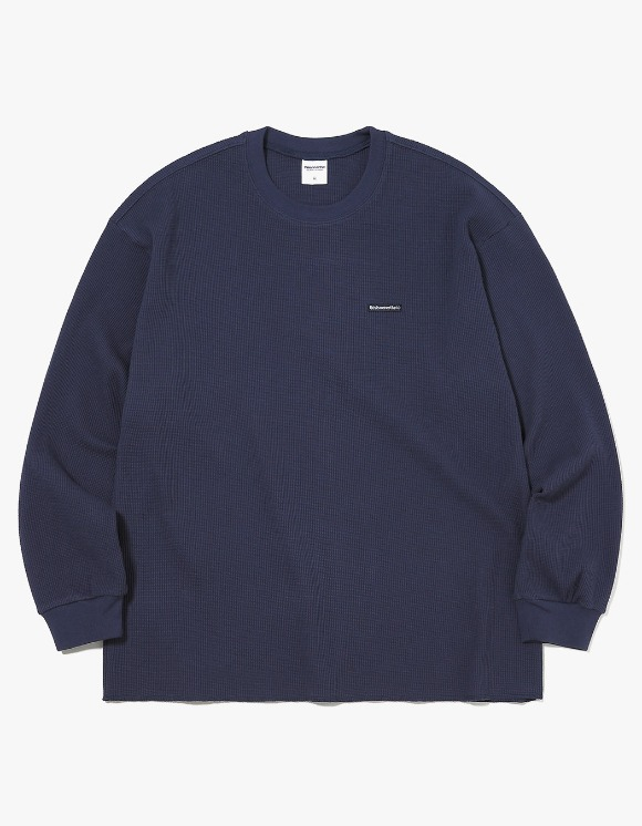 thisisneverthat T-Logo Waffle L/SL Top - Dark Navy | HEIGHTS. | 하이츠 온라인 스토어