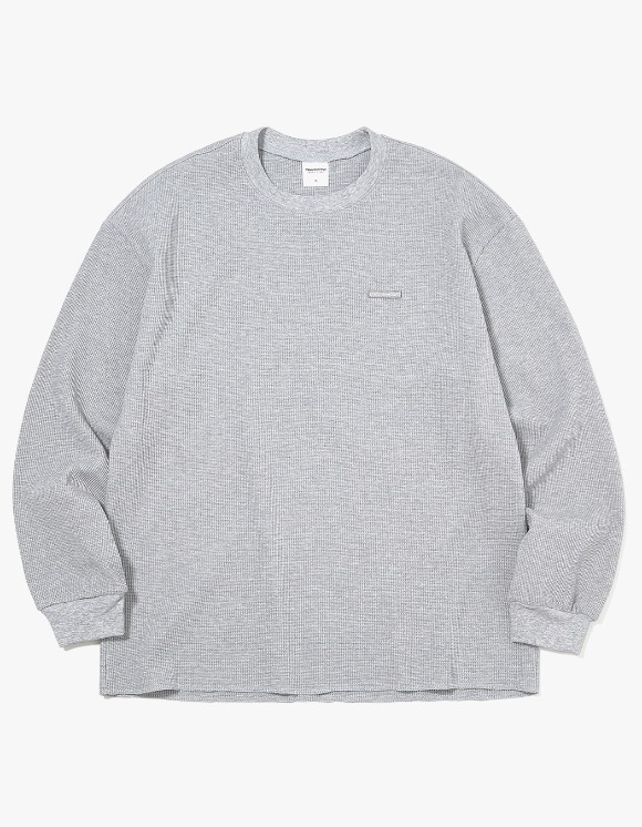thisisneverthat T-Logo Waffle L/SL Top - Grey | HEIGHTS. | 하이츠 온라인 스토어