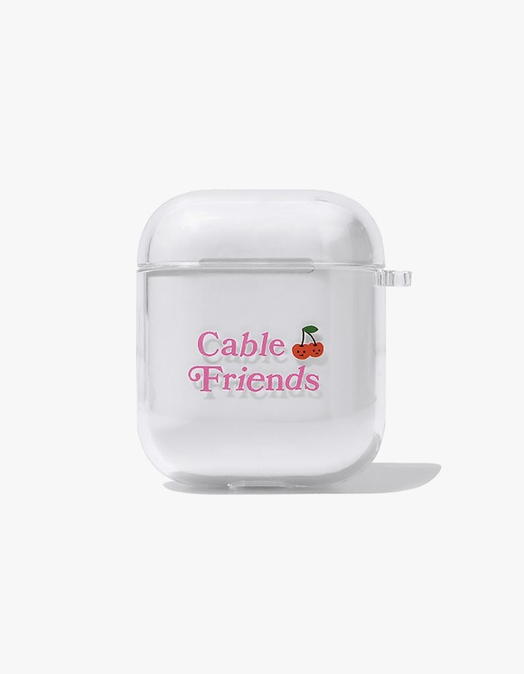 KIRSH Cable Friends AirPods Case JS - Clear | HEIGHTS. | 하이츠 온라인 스토어