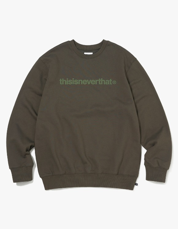 thisisneverthat T-Logo Crewneck - Dark Olive | HEIGHTS. | 하이츠 온라인 스토어