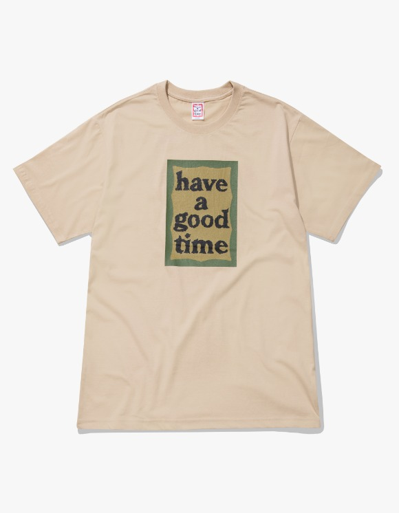 have a good time Military Frame S/S Tee - Military Beige | HEIGHTS. | 하이츠 온라인 스토어