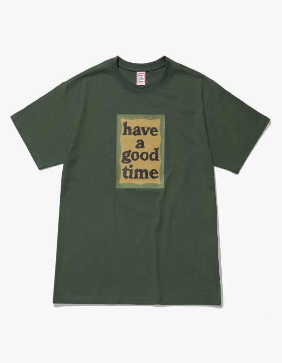 have a good time Military Frame S/S Tee - Military Green | HEIGHTS. | 하이츠 온라인 스토어
