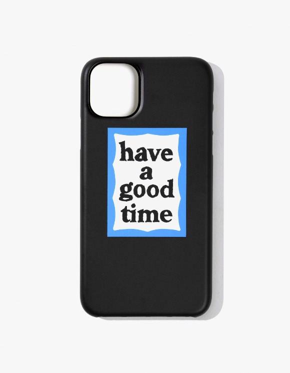 have a good time Blue Frame iPhone Case 11 - Black | HEIGHTS. | 하이츠 온라인 스토어