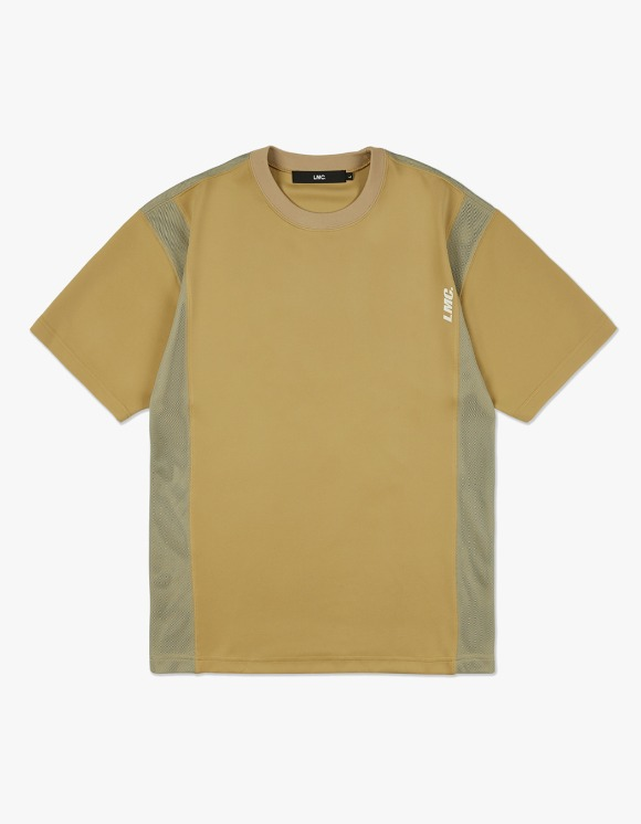 LMC LMC MESH LAYERED JERSEY TEE mustard | HEIGHTS. | 하이츠 온라인 스토어