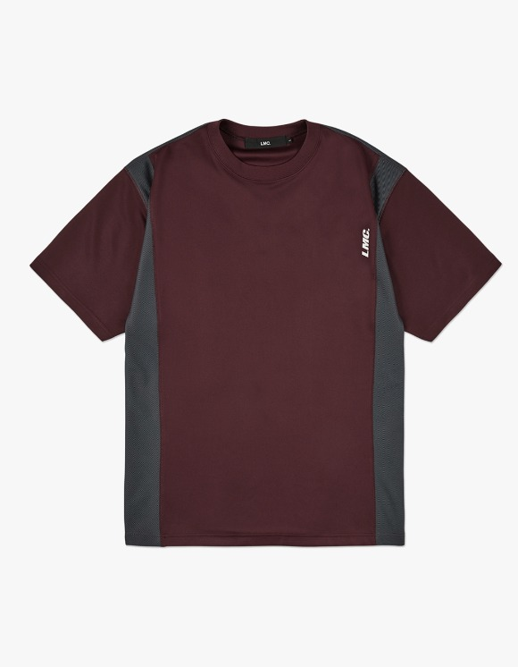 LMC LMC MESH LAYERED JERSEY TEE burgundy | HEIGHTS. | 하이츠 온라인 스토어