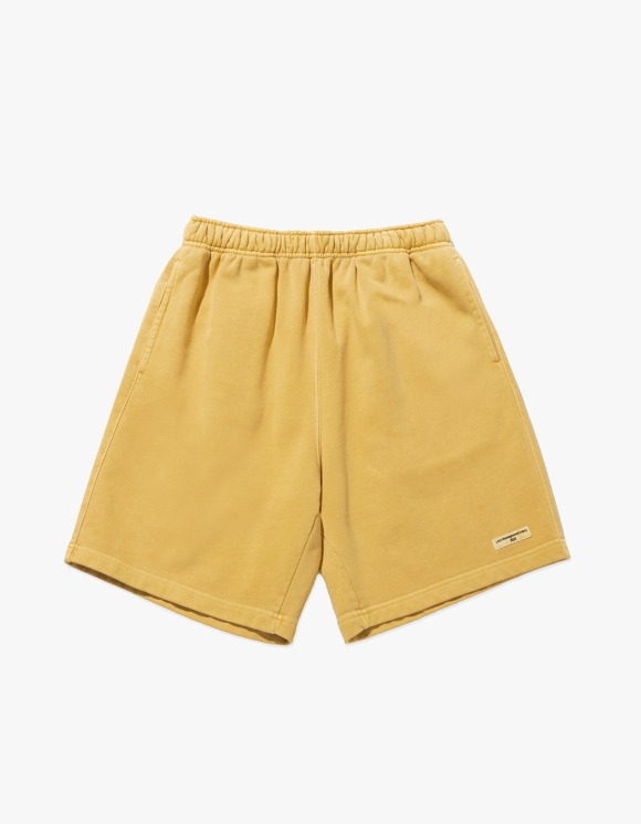 LMC LMC OVERDYED ARCH FN SWEAT SHORTS yellow | HEIGHTS. | 하이츠 온라인 스토어