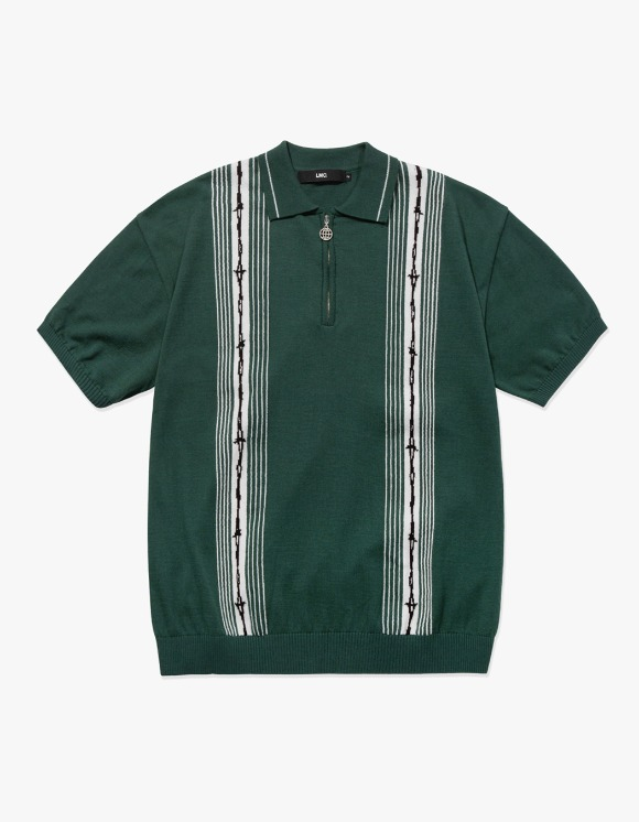 LMC LMC BARBWIRE KNIT POLO SHIRT green | HEIGHTS. | 하이츠 온라인 스토어