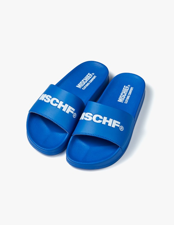 MISCHIEF MSCHF Slides - Blue/White | HEIGHTS. | 하이츠 온라인 스토어