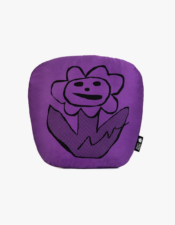 Balansa X More Love By Kentaro Flower Cushion - Purple | HEIGHTS. | 하이츠 온라인 스토어