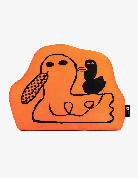 Balansa X More Love By Kentaro Duck Cushion - Orange | HEIGHTS. | 하이츠 온라인 스토어