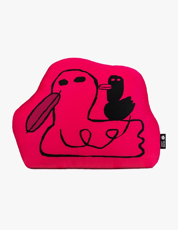 Balansa X More Love By Kentaro Duck Cushion - Red | HEIGHTS. | 하이츠 온라인 스토어