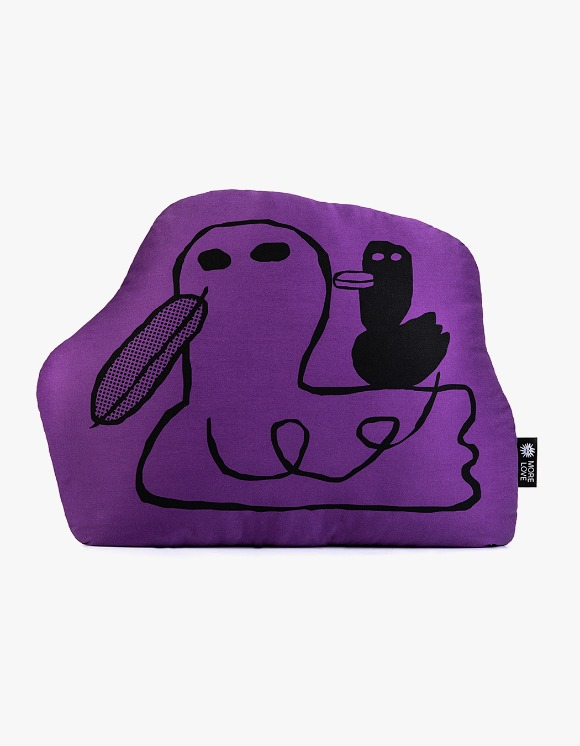 Balansa X More Love By Kentaro Duck Cushion - Purple | HEIGHTS. | 하이츠 온라인 스토어