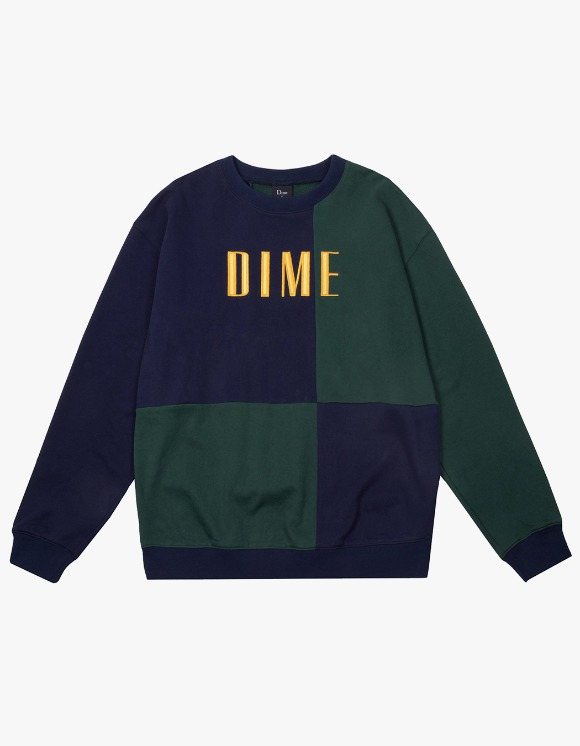 Dime Dime Block Terry Crewneck - Navy | HEIGHTS. | 하이츠 온라인 스토어
