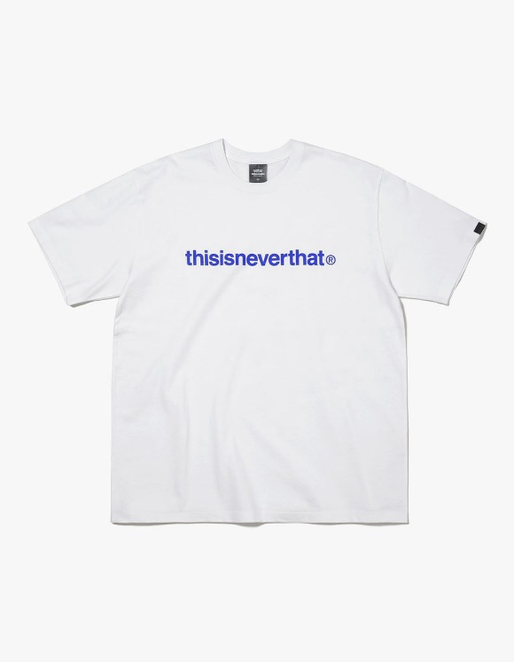 thisisneverthat PKM T-Logo Tee - White/Blue | HEIGHTS. | 하이츠 온라인 스토어