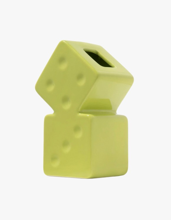 Stussy Dice Ceramic Vase - Lime | HEIGHTS. | 하이츠 온라인 스토어