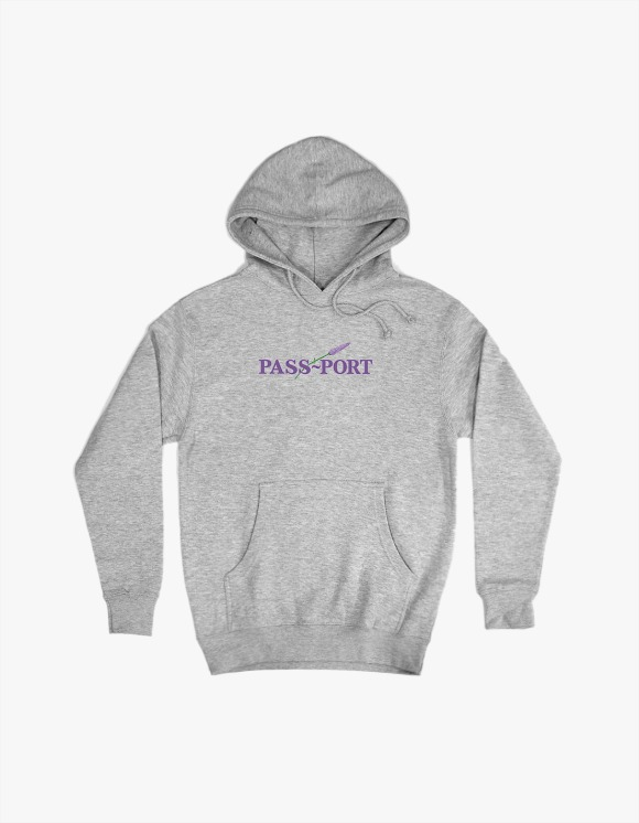 Pass Port Pass Port Lavender Hoodie - Heather Grey | HEIGHTS. | 하이츠 온라인 스토어