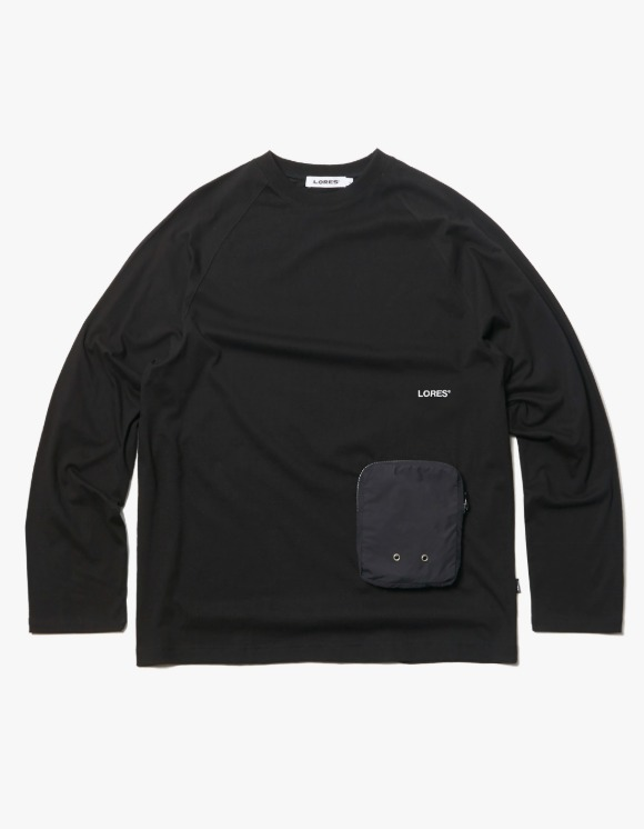 LORES Zip Pocket L/S Tee - Black | HEIGHTS. | 하이츠 온라인 스토어
