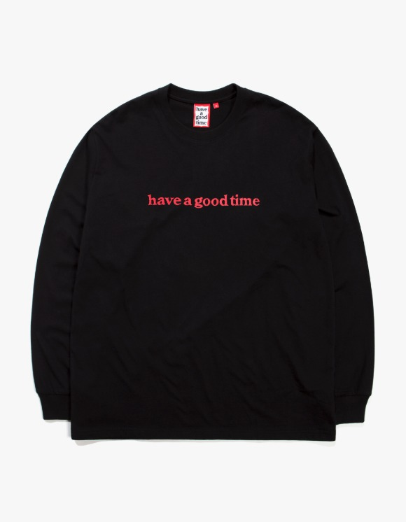 have a good time Side Logo L/S Tee - Black | HEIGHTS. | 하이츠 온라인 스토어