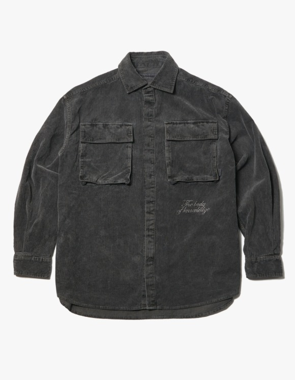 LORES Garments Dyed Corduroy Shirt Jacket - Charcoal | HEIGHTS. | 하이츠 온라인 스토어