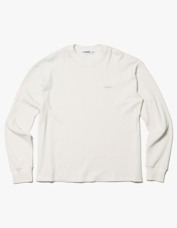 LORES Thermal Elbow Patch L/S Tee - Beige | HEIGHTS. | 하이츠 온라인 스토어
