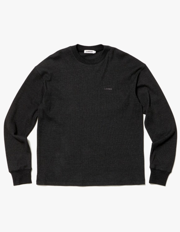 LORES Thermal Elbow Patch L/S Tee - Charcoal | HEIGHTS. | 하이츠 온라인 스토어