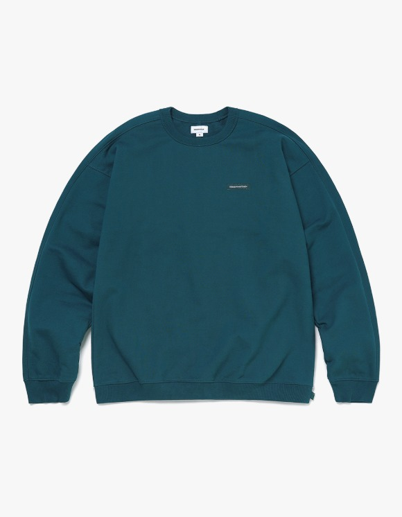thisisneverthat S-Crewneck Sweat - Blue Green | HEIGHTS. | 하이츠 온라인 스토어