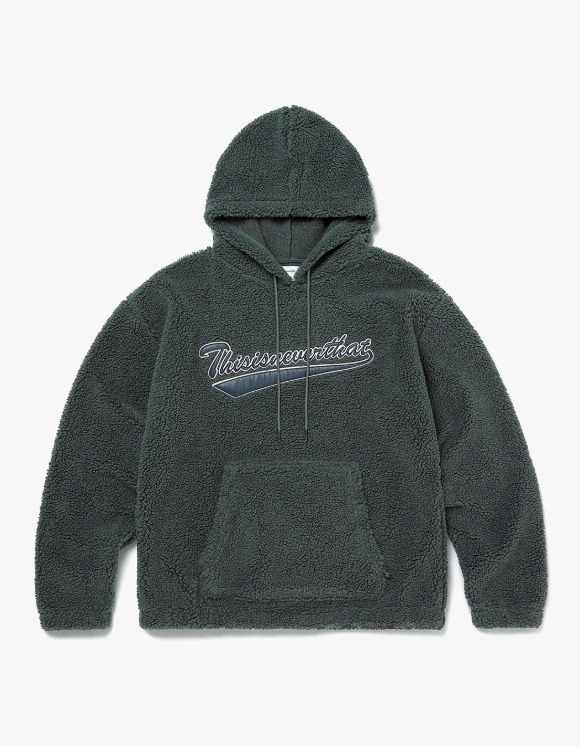thisisneverthat Sherpa Fleece Hoodie - Charcoal | HEIGHTS. | 하이츠 온라인 스토어