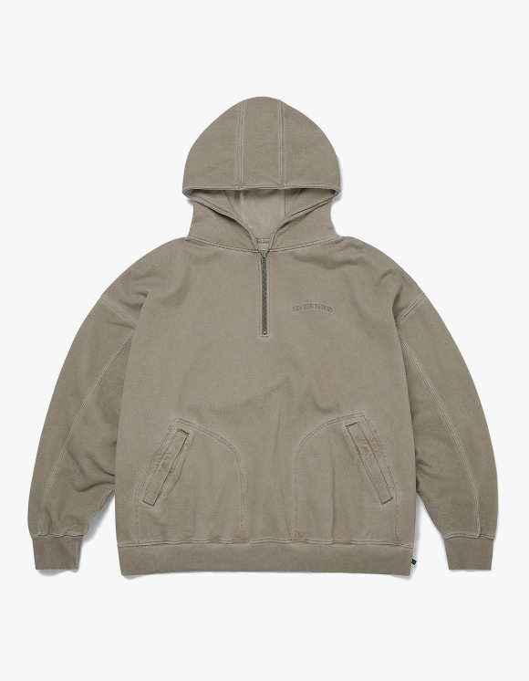 thisisneverthat Overdyed 1/4 Zip Hoodie - Beige | HEIGHTS. | 하이츠 온라인 스토어