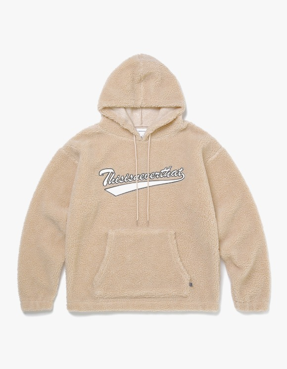 thisisneverthat Sherpa Fleece Hoodie - Beige | HEIGHTS. | 하이츠 온라인 스토어