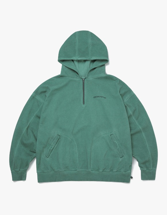 thisisneverthat Overdyed 1/4 Zip Hoodie - Blue Green | HEIGHTS. | 하이츠 온라인 스토어