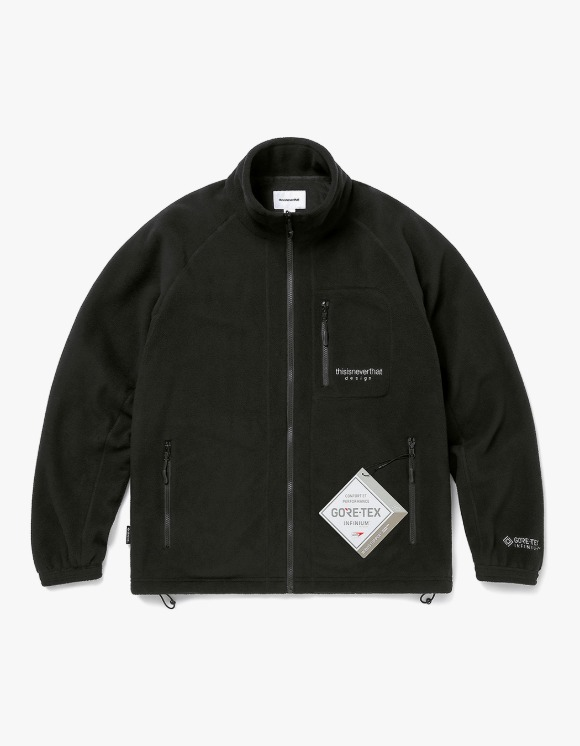 thisisneverthat GORE-TEX® INFINIUM™ Fleece Jacket - Black | HEIGHTS. | 하이츠 온라인 스토어