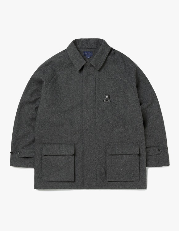 thisisneverthat Wool ZIP Coat - Charcoal | HEIGHTS. | 하이츠 온라인 스토어