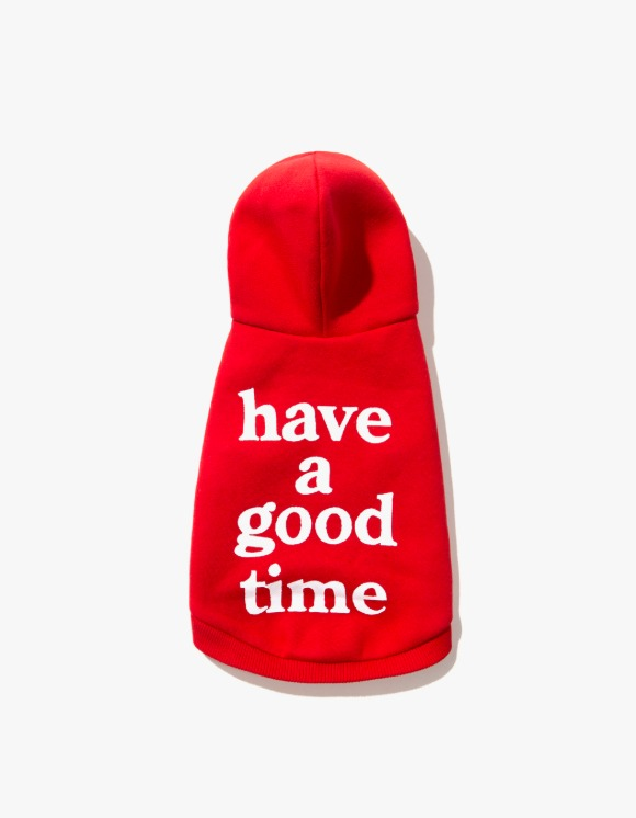 have a good time HAGT Dog Hoodie - Red | HEIGHTS. | 하이츠 온라인 스토어