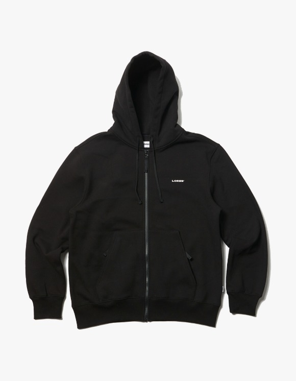 LORES Logo Zip-Up Hoodie - Black | HEIGHTS. | 하이츠 온라인 스토어
