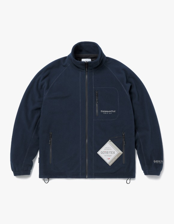 thisisneverthat GORE-TEX® INFINIUM™ Fleece Jacket - Navy | HEIGHTS. | 하이츠 온라인 스토어