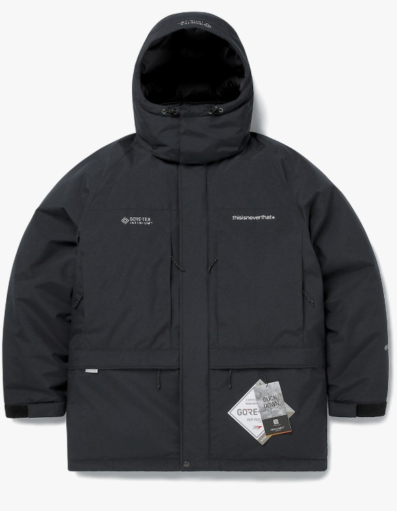 thisisneverthat GORE-TEX® INFINIUM™ Mountain Down Parka - Black | HEIGHTS. | 하이츠 온라인 스토어