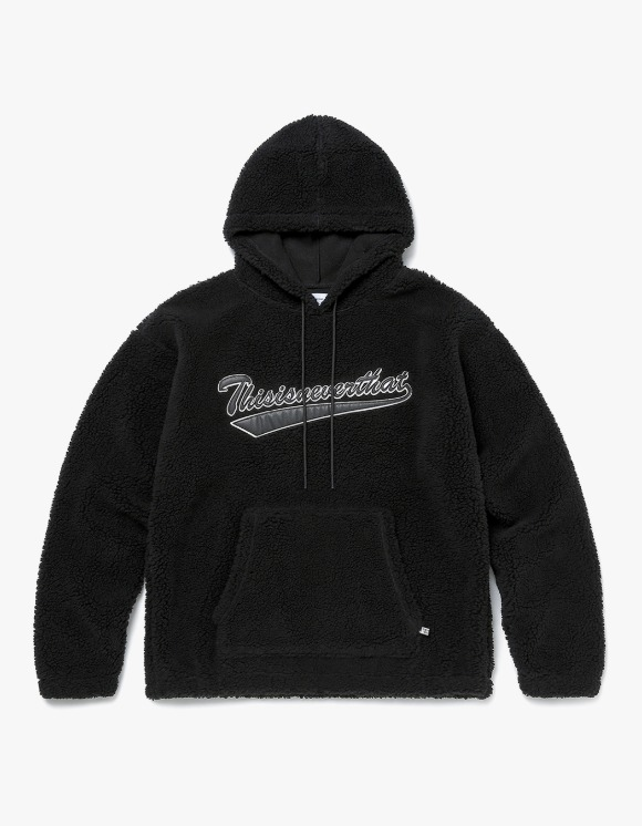 thisisneverthat Sherpa Fleece Hoodie - Black | HEIGHTS. | 하이츠 온라인 스토어