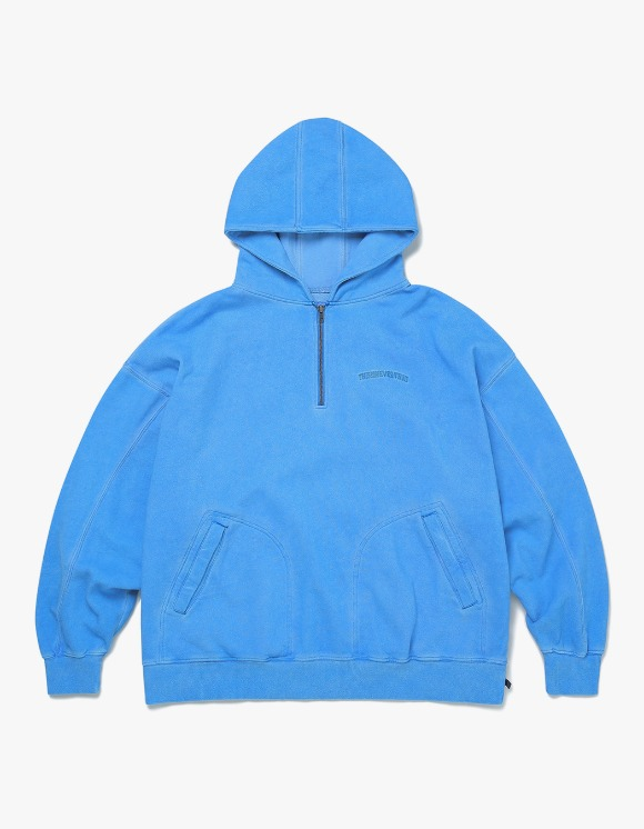 thisisneverthat Overdyed 1/4 Zip Hoodie - Blue | HEIGHTS. | 하이츠 온라인 스토어