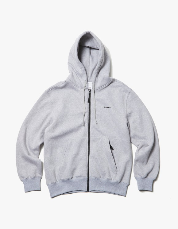 LORES Logo Zip-Up Hoodie - Heather Grey | HEIGHTS. | 하이츠 온라인 스토어