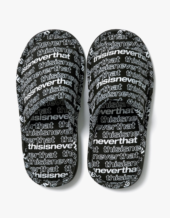 thisisneverthat SP-Logo Slipper - Black | HEIGHTS. | 하이츠 온라인 스토어