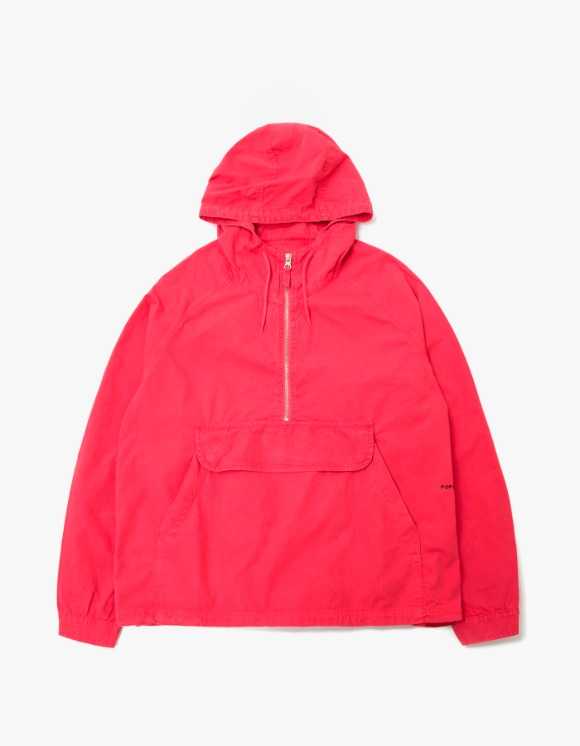 Pop Trading Company Pop Hooded Half Zip - Coral | HEIGHTS. | 하이츠 온라인 스토어