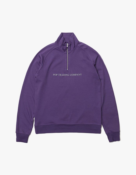Pop Trading Company Pop Sportswear Company Light Weight Half Zip - Egg Plant | HEIGHTS. | 하이츠 온라인 스토어