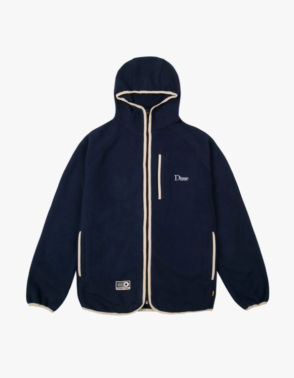 Dime Polar Fleece Hooded Jacket - Navy | HEIGHTS. | 하이츠 온라인 스토어