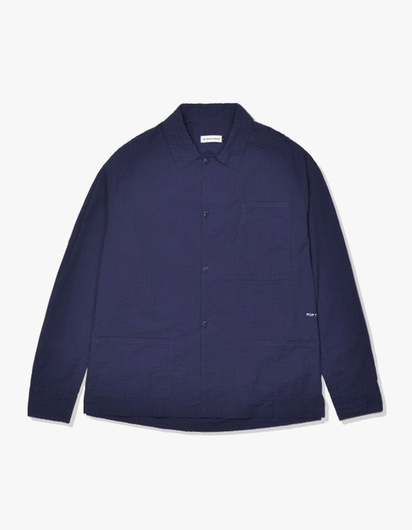 Pop Trading Company Pop Metrospective Overshirt - Navy | HEIGHTS. | 하이츠 온라인 스토어