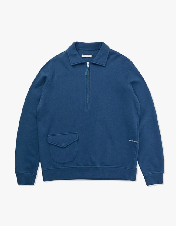 Pop Trading Company Pop Sports Wear Company Heavy Weight Half Zip - Dark Teal | HEIGHTS. | 하이츠 온라인 스토어