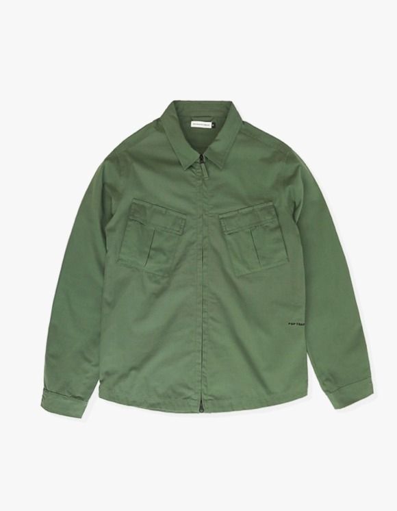 Pop Trading Company Pop Falling Down Overshirt - Olive | HEIGHTS. | 하이츠 온라인 스토어