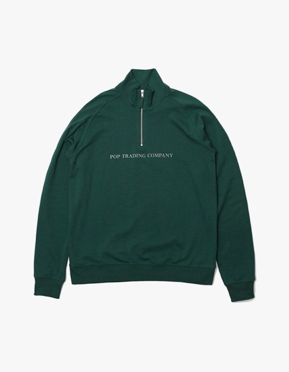 Pop Trading Company Pop Sportswear Company Light Weight Half Zip Sport - Green | HEIGHTS. | 하이츠 온라인 스토어