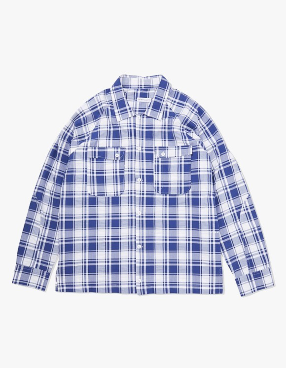 Pop Trading Company Pop Herman Shirt - Navy/White Check | HEIGHTS. | 하이츠 온라인 스토어