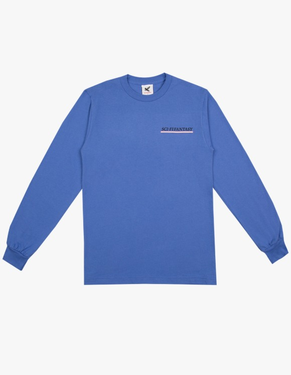 Sci-Fi Fantasy Industrial L/S Tee - Flo Blue | HEIGHTS. | 하이츠 온라인 스토어
